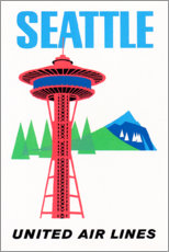 Premium poster  Seattle - Travel Collection