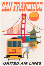 Premium poster San Francisco (English)