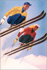Premium poster  Ski jumpers - Travel Collection