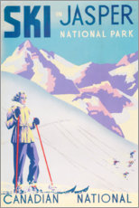 Premium poster  Ski in Jasper - Travel Collection