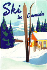 Canvas print  Ski in Canada (English) - Travel Collection