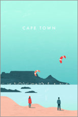 Canvas print  Cape Town illustration - Katinka Reinke