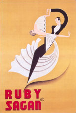 Canvas print  Ruby et Sagan (French) - Entertainment Collection