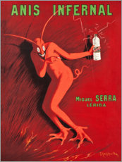 Wood print  Anis Infernal - Leonetto Cappiello