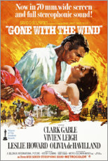 Canvas print  Gone with the wind - Entertainment Collection