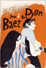 Premium poster  Bob Dylan and Joan Baez concert (English) - Entertainment Collection