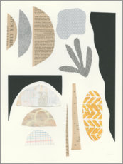 Wood print  Mixed forms II - Courtney Prahl