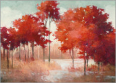 Premium poster Red autumn landscape