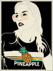 Premium poster  Pineapple - dolceQ