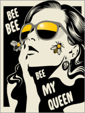 Gallery print  Bee my queen - dolceQ