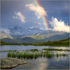 Canvas print  Rainbow in the Alps - Tobias Richter