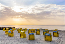 Premium poster Beach chairs on the North Sea