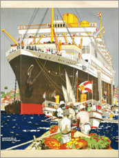 Premium poster  South America, the Royal Mail Line - Kenneth Shoesmith