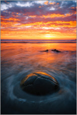 Wall sticker  Sunset at the Moeraki Boulders - Igor Kondler