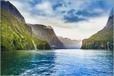 Aluminium print  Breathtaking scenery in the Milford Sounds - Igor Kondler
