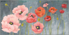 Wood print  Poppy Party - Julia Purinton
