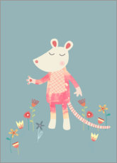 Premium poster  Flower Mouse - Nic Squirrell