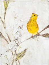 Premium poster  Yellowhammer on a branch - Kerstin Ax