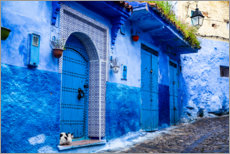 Canvas print  Blue door in Chefchaouen, Morocco - Jolly Sienda