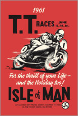 Aluminium print  TT races - Advertising Collection