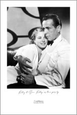 Foam board print  Casablanca - Entertainment Collection