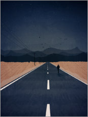 Premium poster  Lonely Road to the Mountains - Sybille Sterk