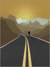 Wall sticker  Lonely road - Sybille Sterk