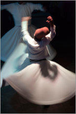 Canvas print  Whirling dervishes while dancing - Keren Su