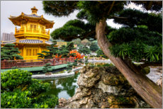 Premium poster Pagoda in Chi Lin Nunnery