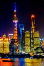 Canvas print  Skyscrapers in Shanghai - William Perry