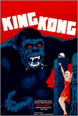 Acrylic print  King Kong (Danish) - Entertainment Collection