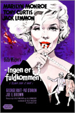 Wood print  Some like it hot (danish) - Entertainment Collection