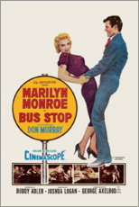 Wood print  Bus Stop - Entertainment Collection