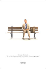 Wood print  Forrest Gump - Entertainment Collection