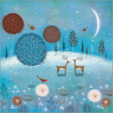 Wall sticker  Winter night in the forest - Jo Parry