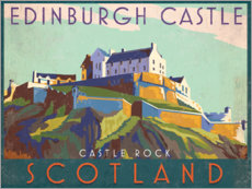 Canvas print  Edinburgh Castle - Jo Parry