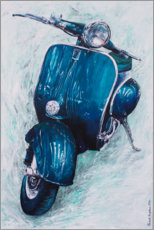 Canvas print  Dark blue Vespa - Renate Berghaus