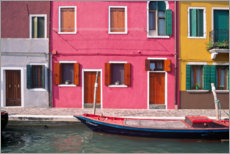 Premium poster  Colorful house facades of Burano - Jaynes Gallery