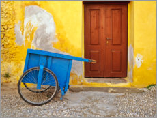 Premium poster  House with blue cart - Jaynes Gallery