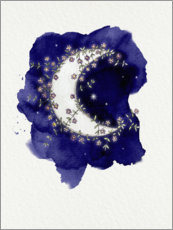 Foam board print  Flower Moon - Sybille Sterk