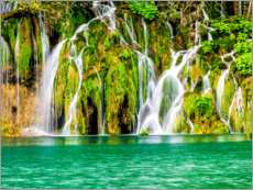Foam board print  Waterfalls in the Plitvice Lakes National Park - Terry Eggers