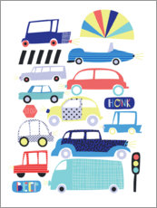 Wall sticker  Colorful cars - Alice Potter