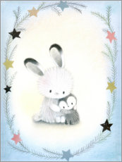 Canvas print  Bunny friend - Dubravka Kolanovic