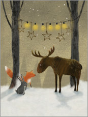 Canvas print  Winter night - Claire Keay