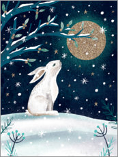 Canvas print  Greetings from the hare - Claire Mcelfatrick