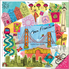 Canvas print  Global Travel - San Francisco - Farida Zaman