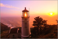 Wood print  Heceta Head Lighthouse - Stuart Westmorland