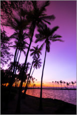 Premium poster  Sunset in Anaeho'omalu Bay III - Russ Bishop