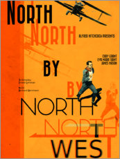 Wood print  North by Northwest - Entertainment Collection