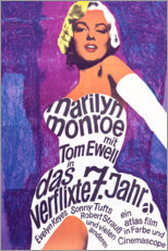 Wood print  The Seven Year Itch - Entertainment Collection